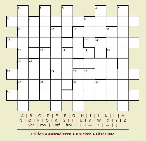 Kreuzworträtsel-Hinweis zuweisen